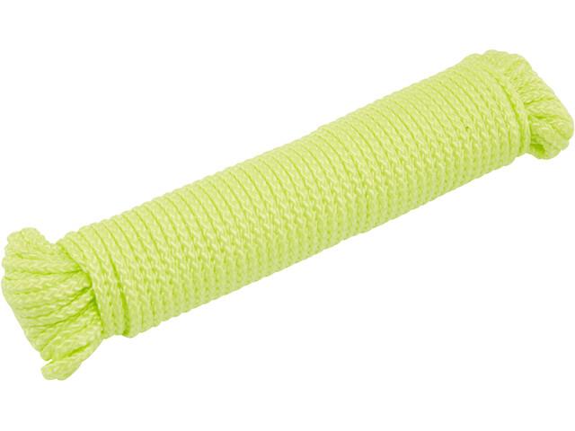 CAMPZ Cuerda Tienda de Campaña 20m x 4mm Fosforescente, yellow